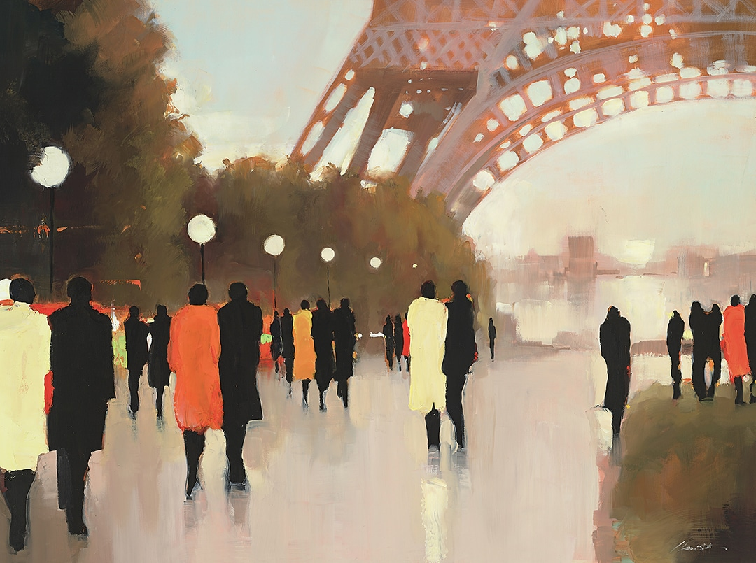 PAINTINGC554-ChristieFrom-Under-the-Eiffel-Tower
